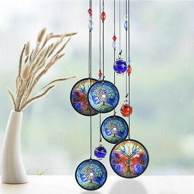 Tree of Life Wind Chime Metal Hanging Outdoor Yard Decor