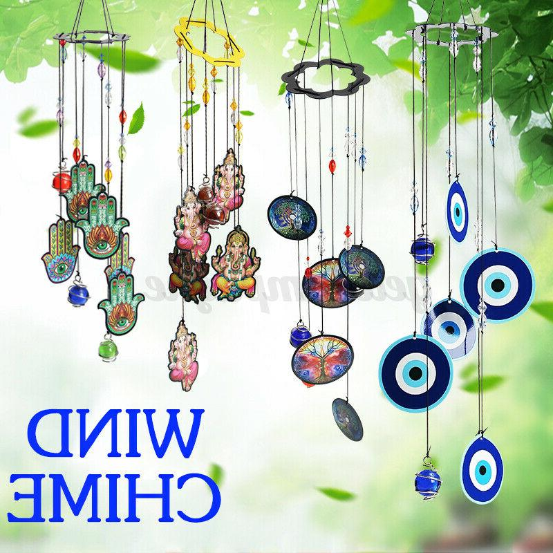 tree of life wind chime metal hanging