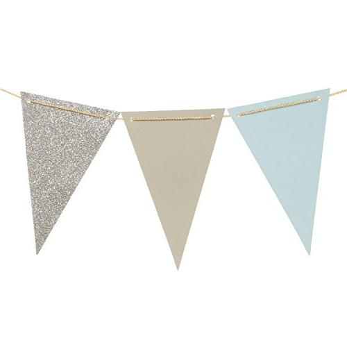triangle flag bunting banner glitter