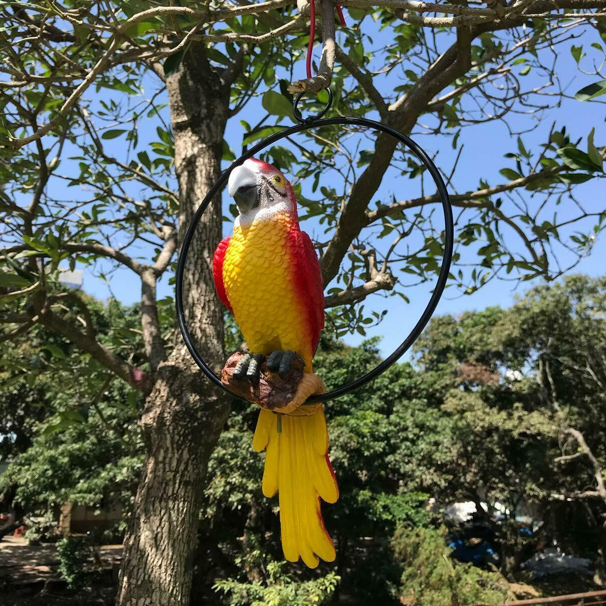 Tropical Bird Parrot Statue Patio Lawn Yard Porch Home Decor
