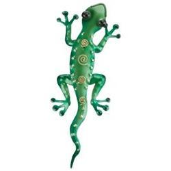 Tropical Rainforest 11 Green Gecko Lizard Metal Wall Art Dec