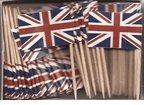 Box of 100 UK British Toothpick Flags Dinner Flags Food Flag