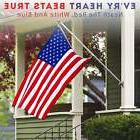 US American Flag Heavy Duty Printed Stars Stripes 3x5 ft Nyl