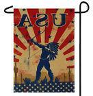 """USA NATIVE AMERICAN INDIAN GARDEN BANNER/FLAG 12""""X18"""" SLEEVE"""