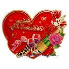 Valentine's Day Hanging Heart Door Wreath Romantic Room Home
