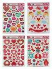 Valentine's Day Static Cling Window Decorations - 4 Large Sh