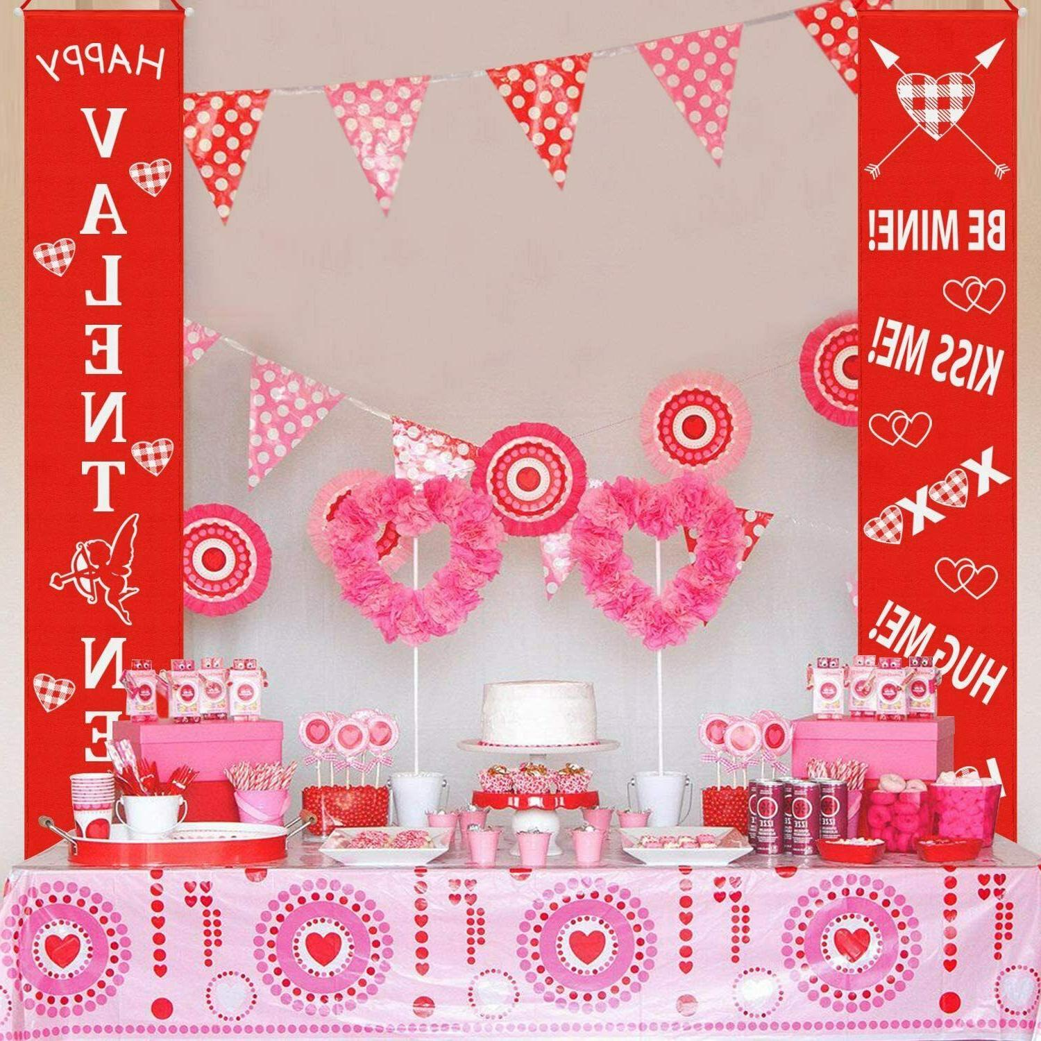 Valentine's Hanging Home Wall Banner Decor Flag