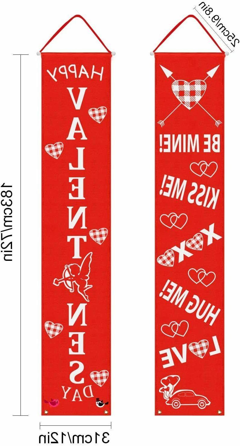 Valentine's Hanging Home Banner Flag