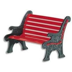 Village Red Wrought Iron Park Bench Department 56 Accessory