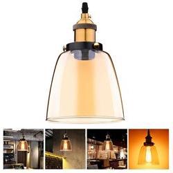 Vintage Pendant Light Glass Hanging Fixture Industrial Ceili