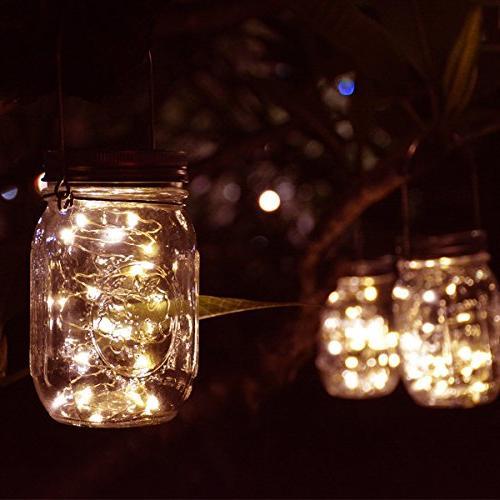 Homeleo Pack Vintage Outdoor Solar Light Set,20 White Fairy Bottle Kit for Garden Party Decor