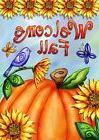 Welcome Fall Pumpkin Garden Flag Sunflowers Birds Autumn 12.