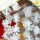30pcs White Snowflake Ornaments Christmas Tree Decorations H