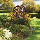 Wind Spinner Metal Twin Blade Catcher Outdoor Decor Garden Y