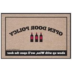 High Cotton Wine Open Door Policy Doormat