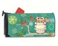 MailWraps Winter Owl Mailbox Cover #01261