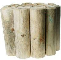 Wooden Lawn Edging 12'' x 1.8m 12'' Log Roll by Kingfisher