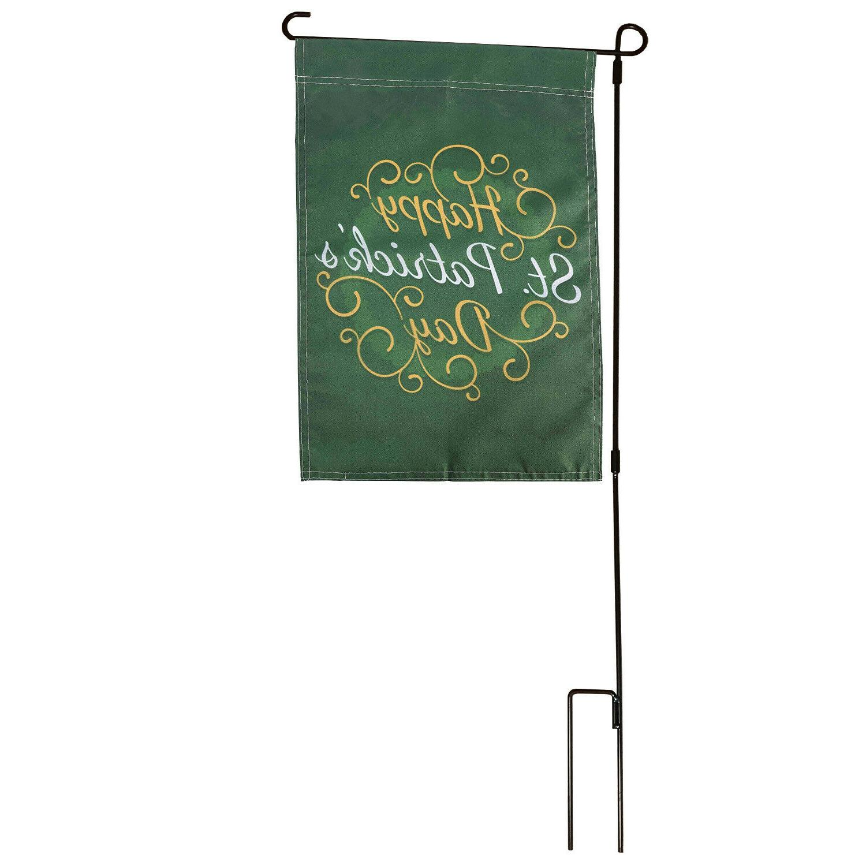 Wrought Flag Stand Black Post Holder Easy