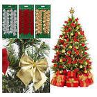 12 Pcs Xmas Bowknot Ornament Hanging Decoration Christmas Tr