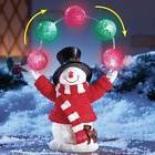 Yard Christmas Lighted Snowman Outdoor Juggling Xmas Lightin