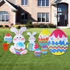 BESTOMZ Yard Signs Outdoor Garden Decoration with Egg and Bu