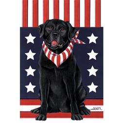 Labrador Retriever  Patriotic Breed Garden Flag