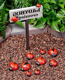 Ladybug Garden Enchanting Bug Themed Yard Decor Crossing Sig