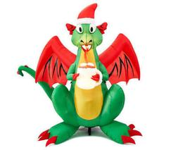 LARGE DRAGON CHRISTMAS GEMMY AIRBLOWN INFLATABLE LIGHTS UP Y