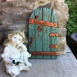 Large Fairy Garden Gnome Door 14 Inches tall, Red,  Tree Yar