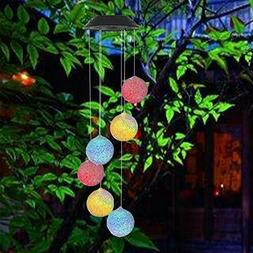 Large LED Solar Outdoor Lights Colorful Wind Chimes Gift Yar
