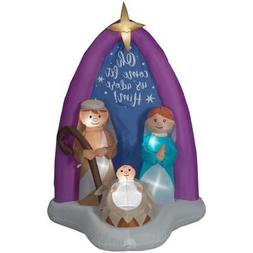 LARGE Nativity Scene MARY JOSEPH CHRISTMAS INFLATABLE LIGHT