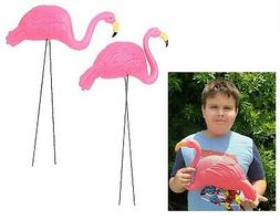 "Large Pink Flamingo Yard Ornaments  34"" Tall. Great"