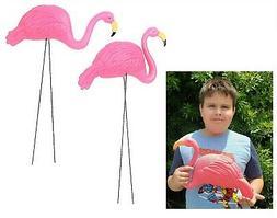 "Large Pink Flamingo Yard Ornaments  34"" Tall. Great"