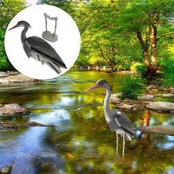 Large Plastic Resin Decoy Heron Garden Ornament Yard Decor B