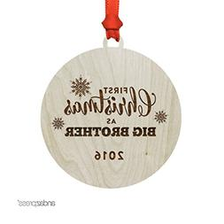 Andaz Press Laser Engraved Wood Christmas Ornament with Gift