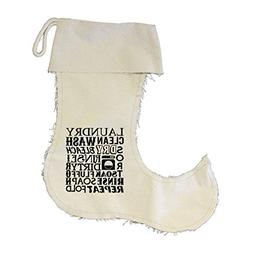 Laundry Clean Wash, Dry Bleach Rinse Canvas Stocking Jester