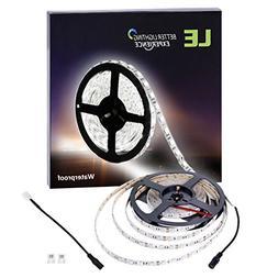 LE 16.4ft Light Strip, 300 Units SMD 5050 LEDs, 6000K Daylig