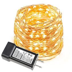 LE 33ft LED String Lights, 100 LED, Copper Wire, Flexible Fa