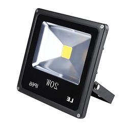 LE 20W Super Bright Outdoor LED Flood Lights, 200W Halogen B