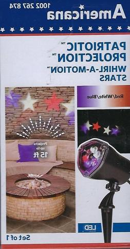 Americana LED 4th of July Stars Patriotic Projection Light S