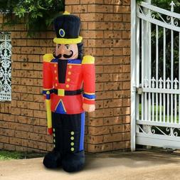 Led Airblown 6ft Inflatable Nutcracker Christmas Soldier for