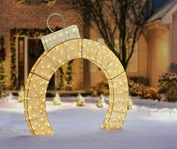 "LED Christmas Lighted Twinkling 72"" Mesh ARCH ORNAMENT 6 ft"