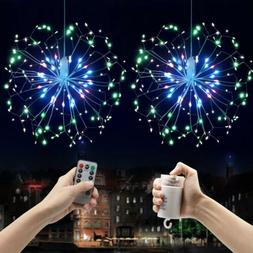 LED Firework Wire String Light Dimmable Battery Operated Han