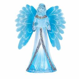 LED Lighted Color Changing Angel with Fiber Optic Wings