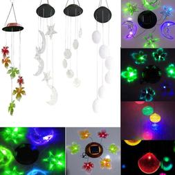 LED Solar Color Changing Wind Chimes Yard Garden Home Window