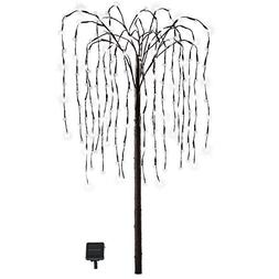 Collections Etc. LED Solar Willow Tree, Outdoor Solar Tree w