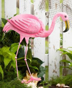 Left Pink Flamingo Garden Yard Stake Statue Lawn Art Outdoor
