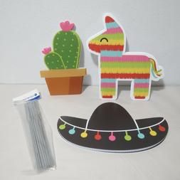 Let's Fiesta - Pinata, Cactus and Sombrero Lawn Decorations