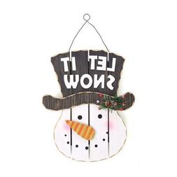 Let it Snow Snowman Wall Sign