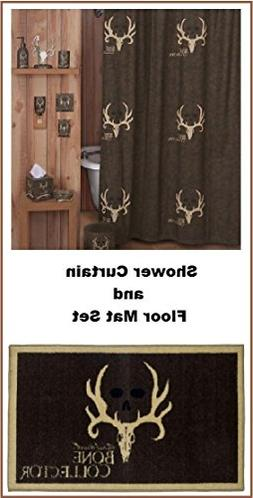 Licensed Bone Collector Brown Shower Curtain and Bathroom Fl